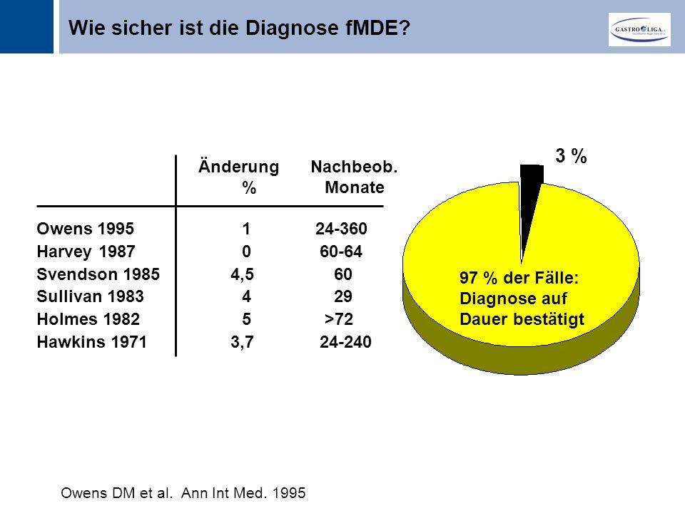 Wie sicher ist die Diagnose fMDE