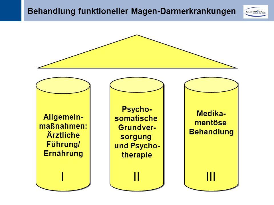 I II III Behandlung funktioneller Magen-Darmerkrankungen Psycho-