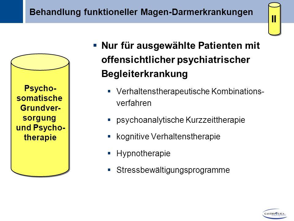 Behandlung funktioneller Magen-Darmerkrankungen