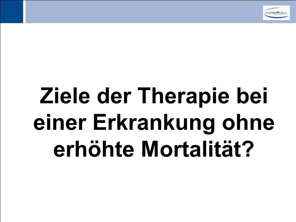 Ziele der Therapie bei einer Erkrankung ohne erhöhte Mortalität