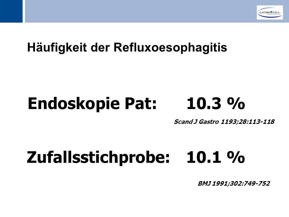 Häufigkeit der Refluxoesophagitis