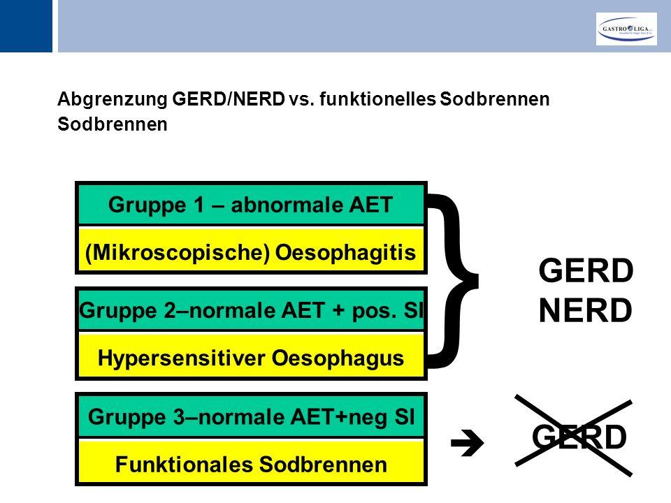Abgrenzung GERD/NERD vs. funktionelles Sodbrennen Sodbrennen