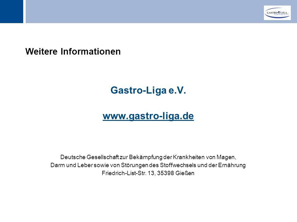 Gastro-Liga e.V. www.gastro-liga.de Weitere Informationen