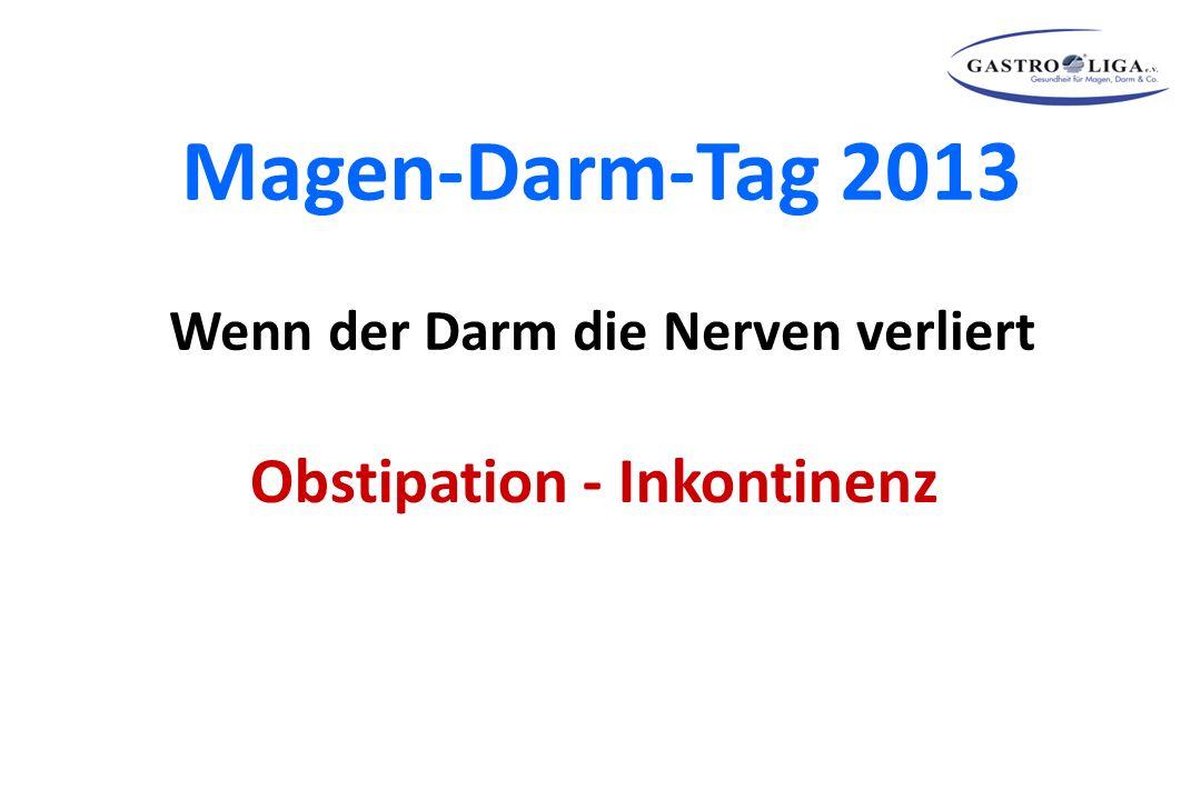 Magen-Darm-Tag 2013 Wenn der Darm die Nerven verliert