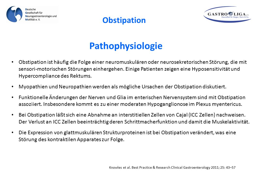 Pathophysiologie Obstipation
