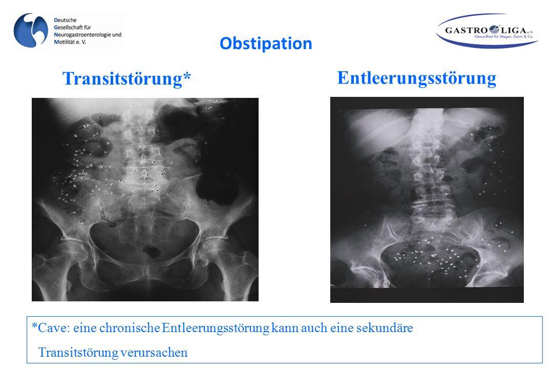 Obstipation Transitstörung* Entleerungsstörung