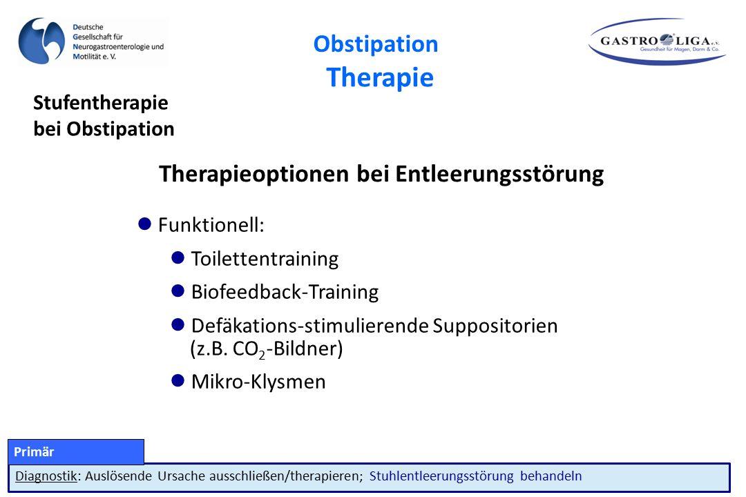 Therapieoptionen bei Entleerungsstörung