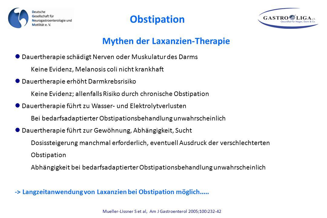 Mythen der Laxanzien-Therapie