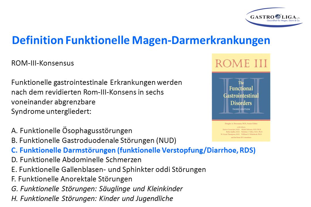 Definition Funktionelle Magen-Darmerkrankungen