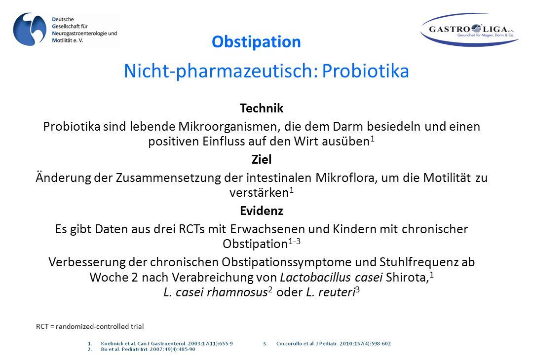 Nicht-pharmazeutisch: Probiotika