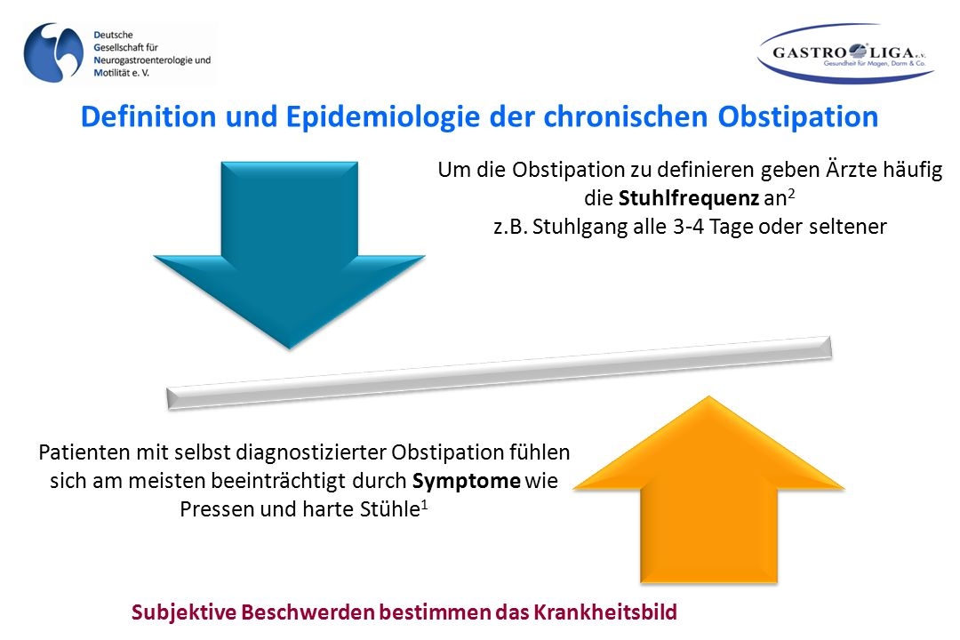Definition und Epidemiologie der chronischen Obstipation
