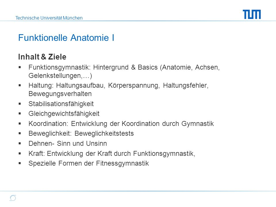 Funktionelle Anatomie I