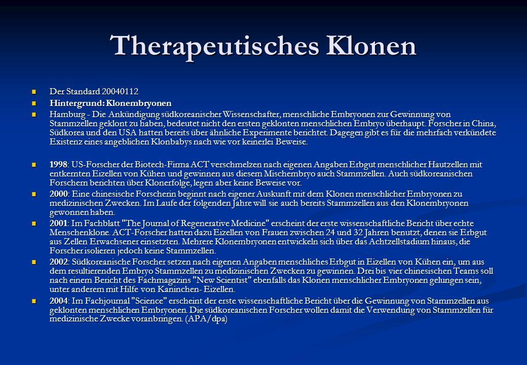 Therapeutisches Klonen