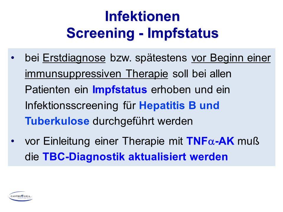 Infektionen Screening - Impfstatus