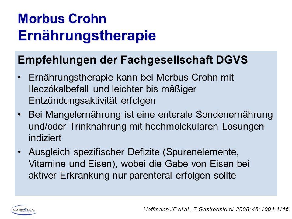 Morbus Crohn Ernährungstherapie