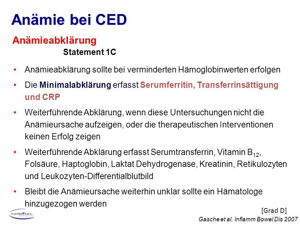 Anämie bei CED Anämieabklärung Statement 1C