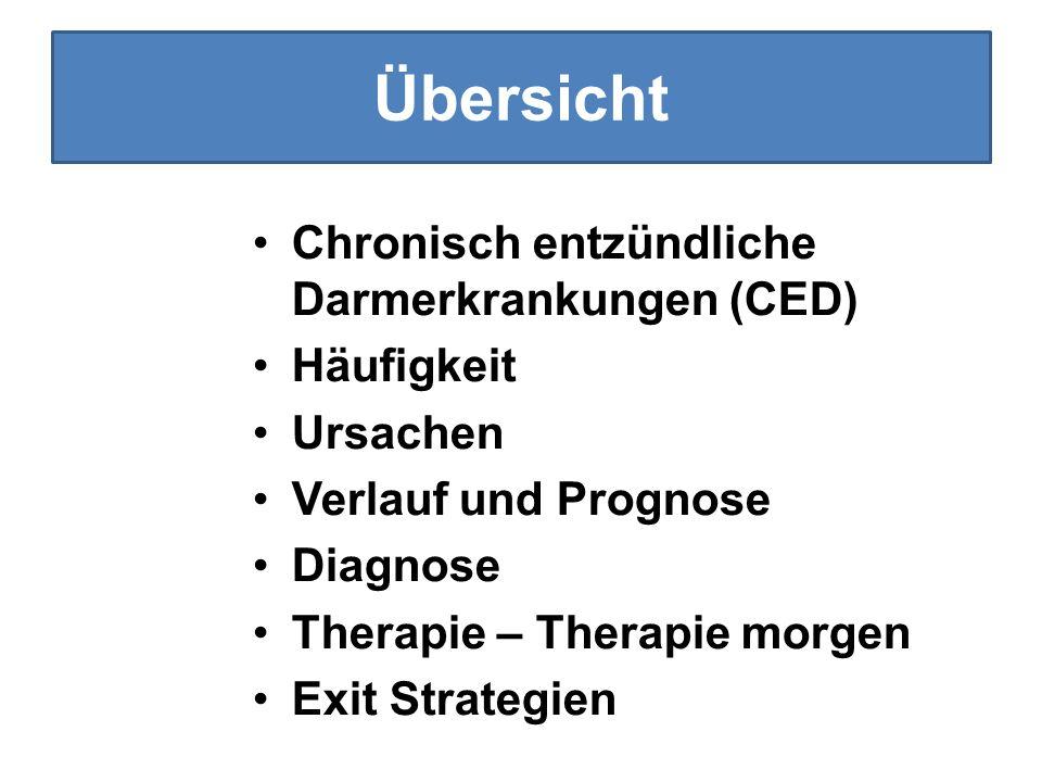 Übersicht Chronisch entzündliche Darmerkrankungen (CED) Häufigkeit
