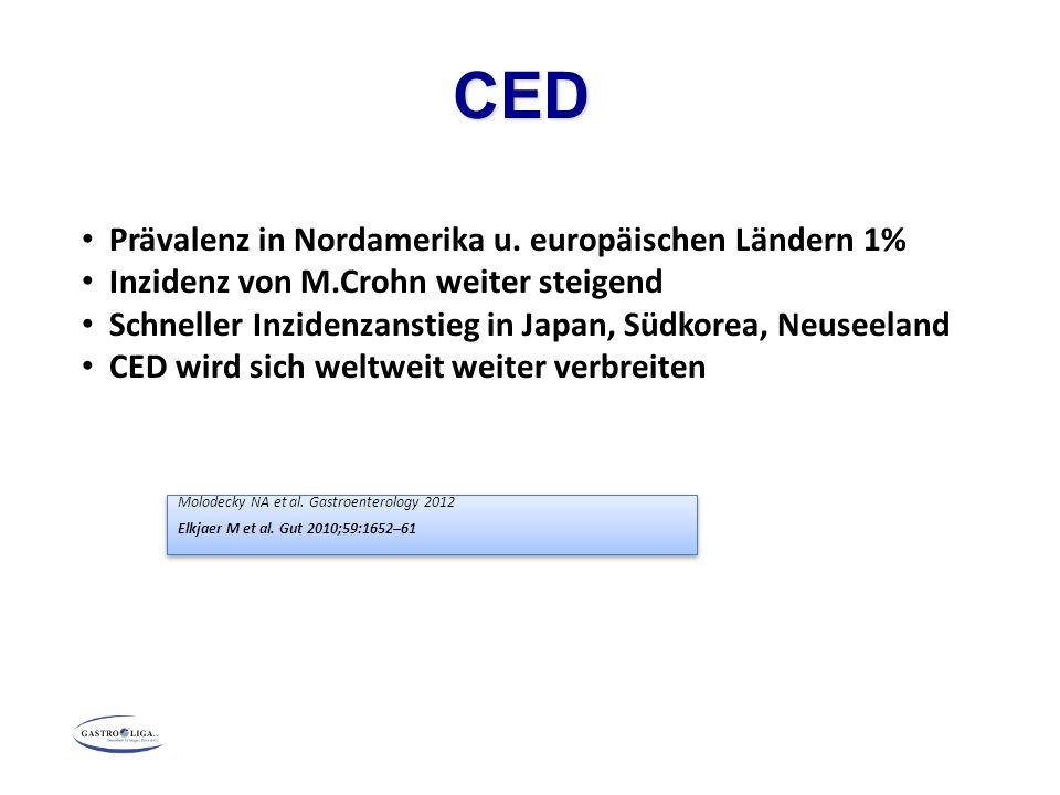 CED Prävalenz in Nordamerika u. europäischen Ländern 1%