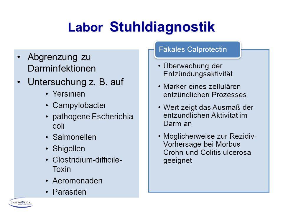 Labor Stuhldiagnostik
