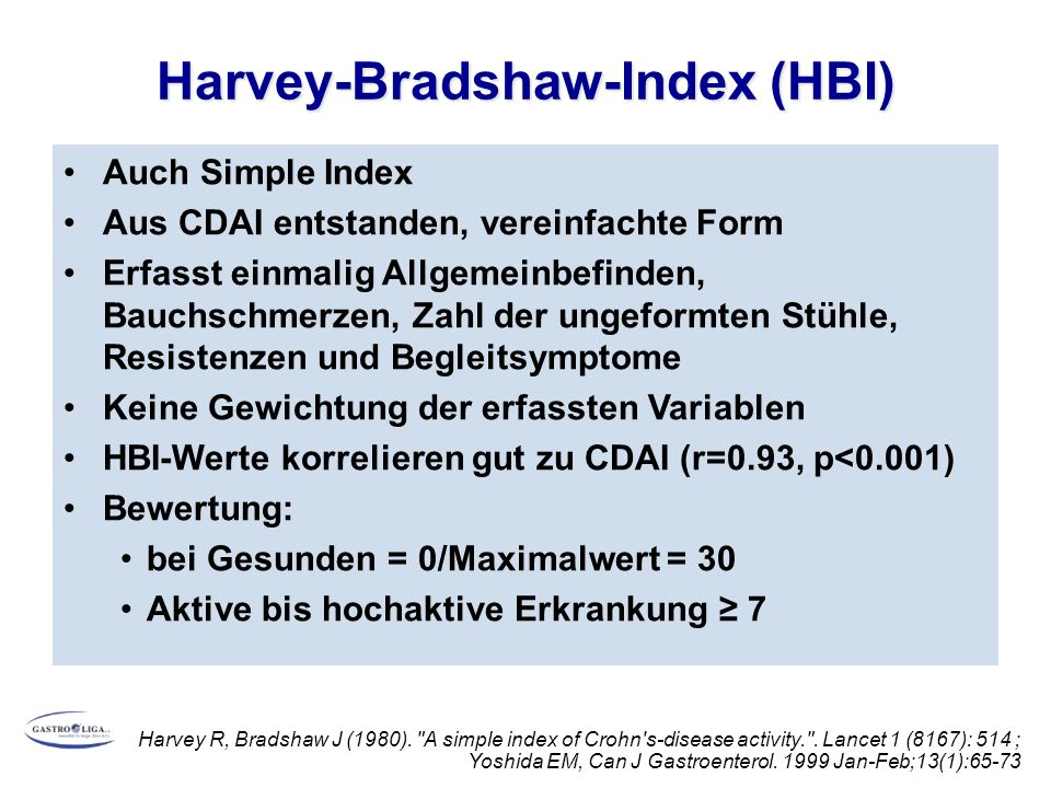 Harvey-Bradshaw-Index (HBI)