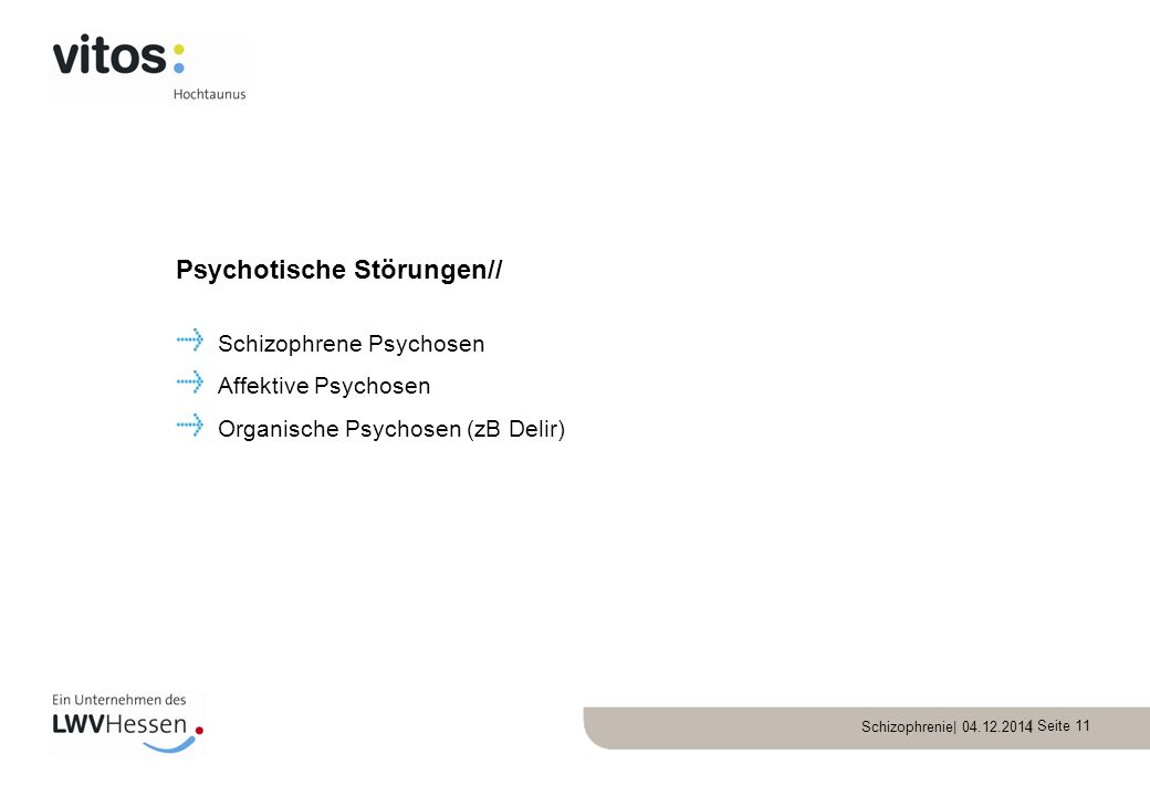 Psychotische Störungen//