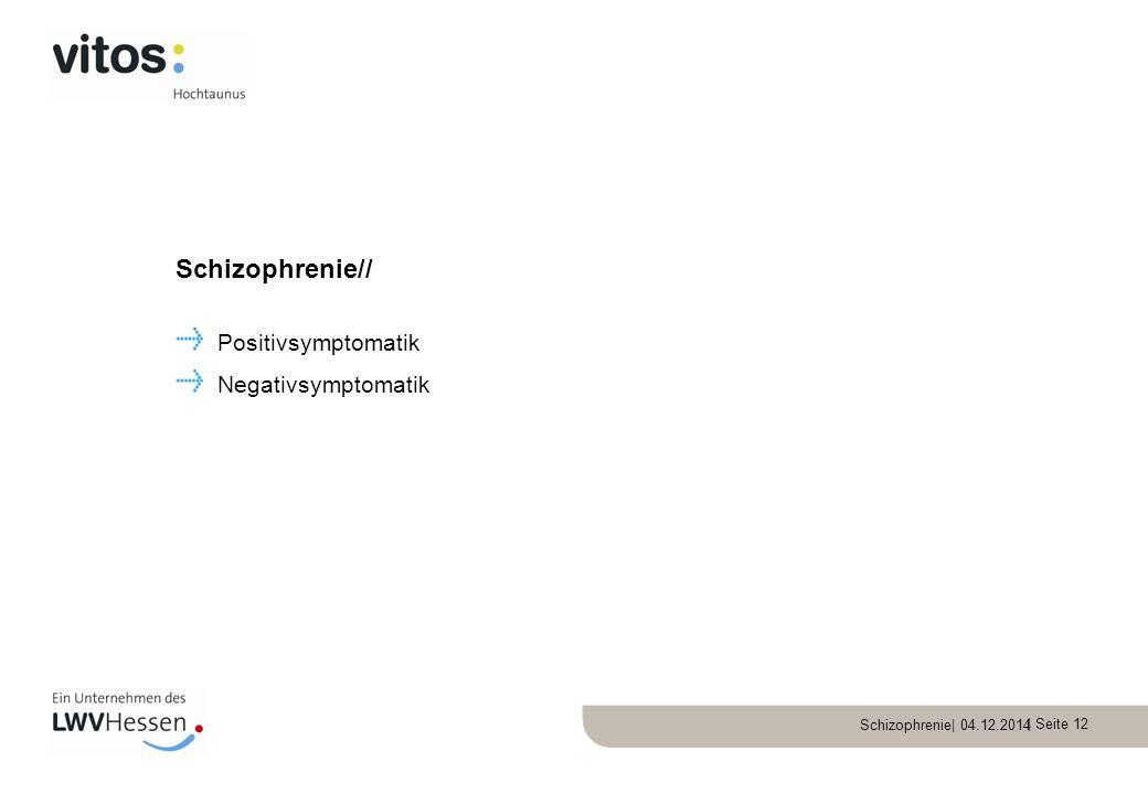 Schizophrenie// Positivsymptomatik Negativsymptomatik
