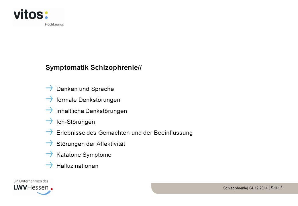 Symptomatik Schizophrenie//