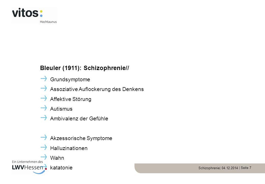 Bleuler (1911): Schizophrenie//