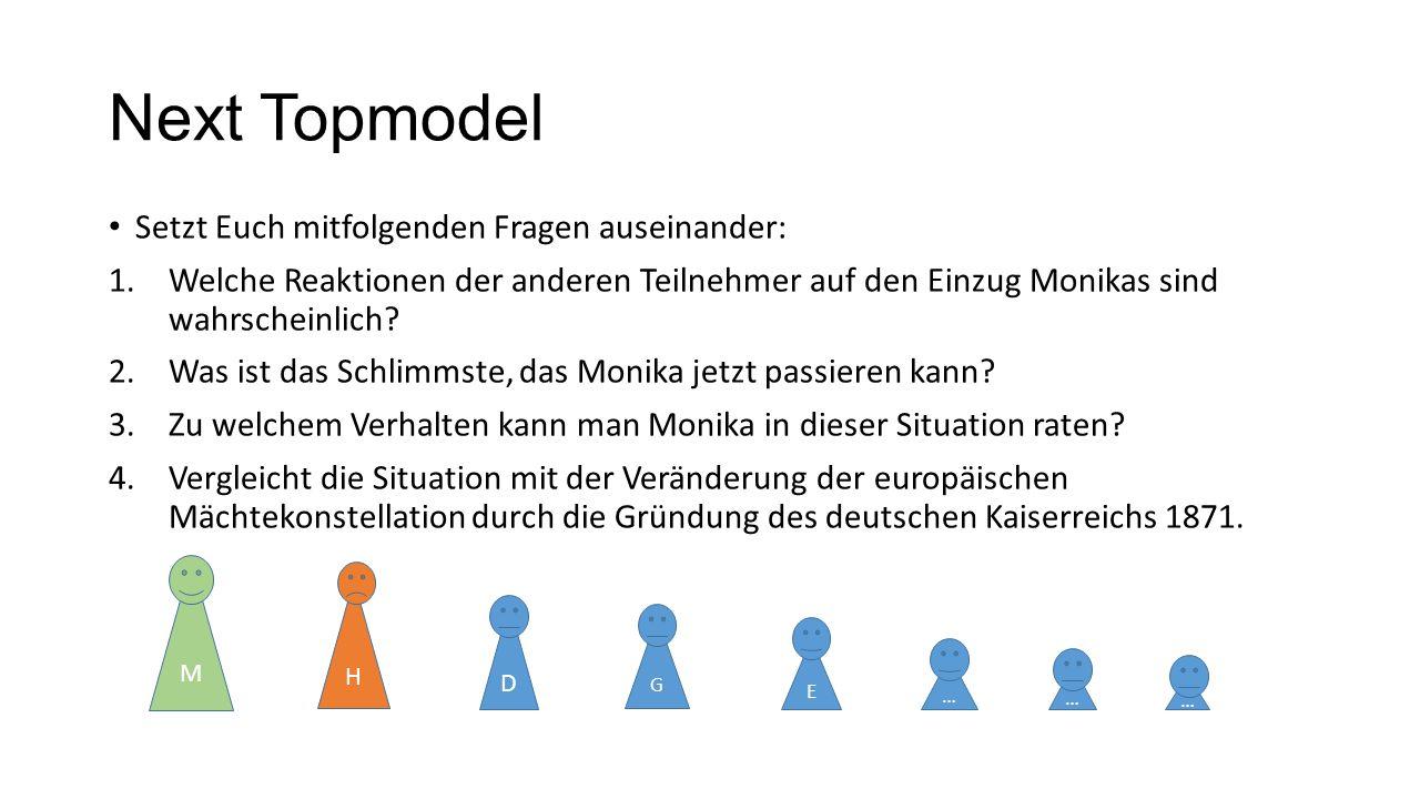 Next Topmodel Setzt Euch mitfolgenden Fragen auseinander: