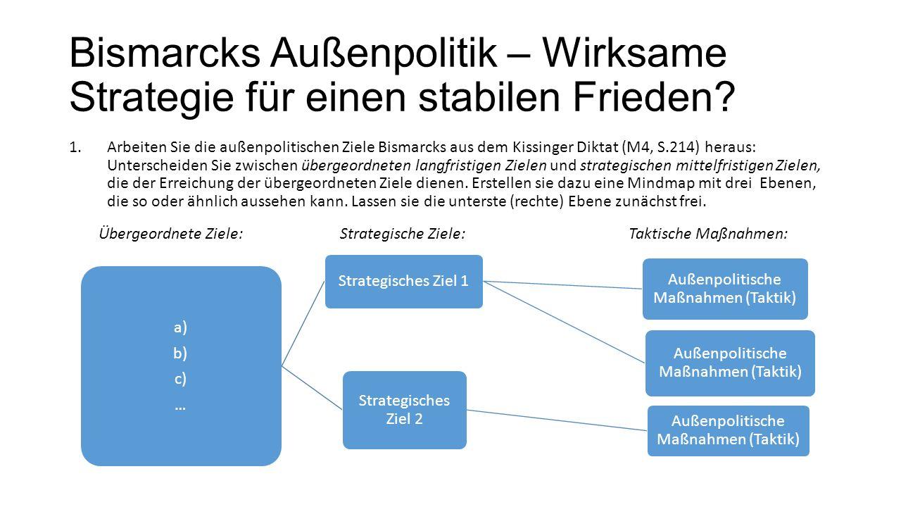 Außenpolitische Maßnahmen (Taktik)