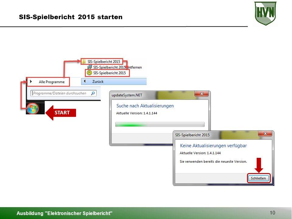 SIS-Spielbericht 2015 starten