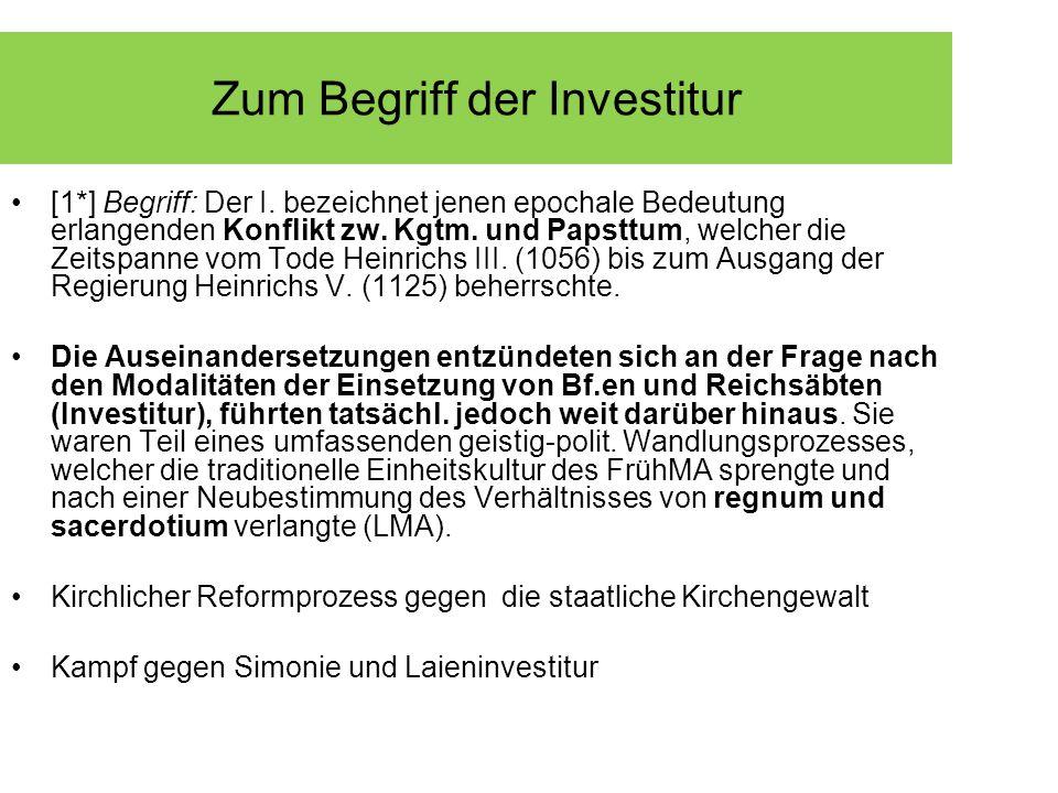 Zum Begriff der Investitur