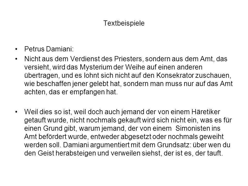Textbeispiele Petrus Damiani: