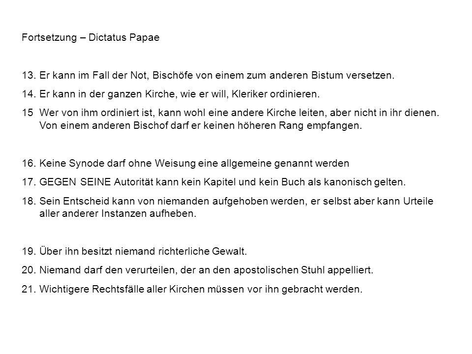 Fortsetzung – Dictatus Papae