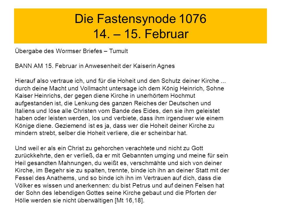 Die Fastensynode 1076 14. – 15. Februar