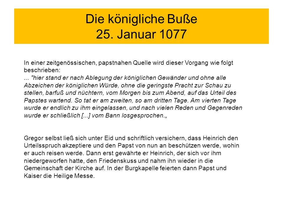 Die königliche Buße 25. Januar 1077