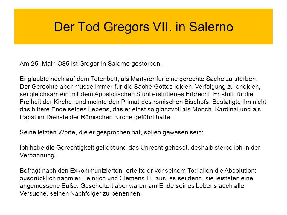Der Tod Gregors VII. in Salerno