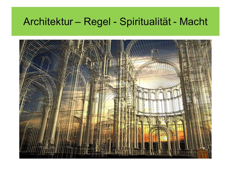 Architektur – Regel - Spiritualität - Macht