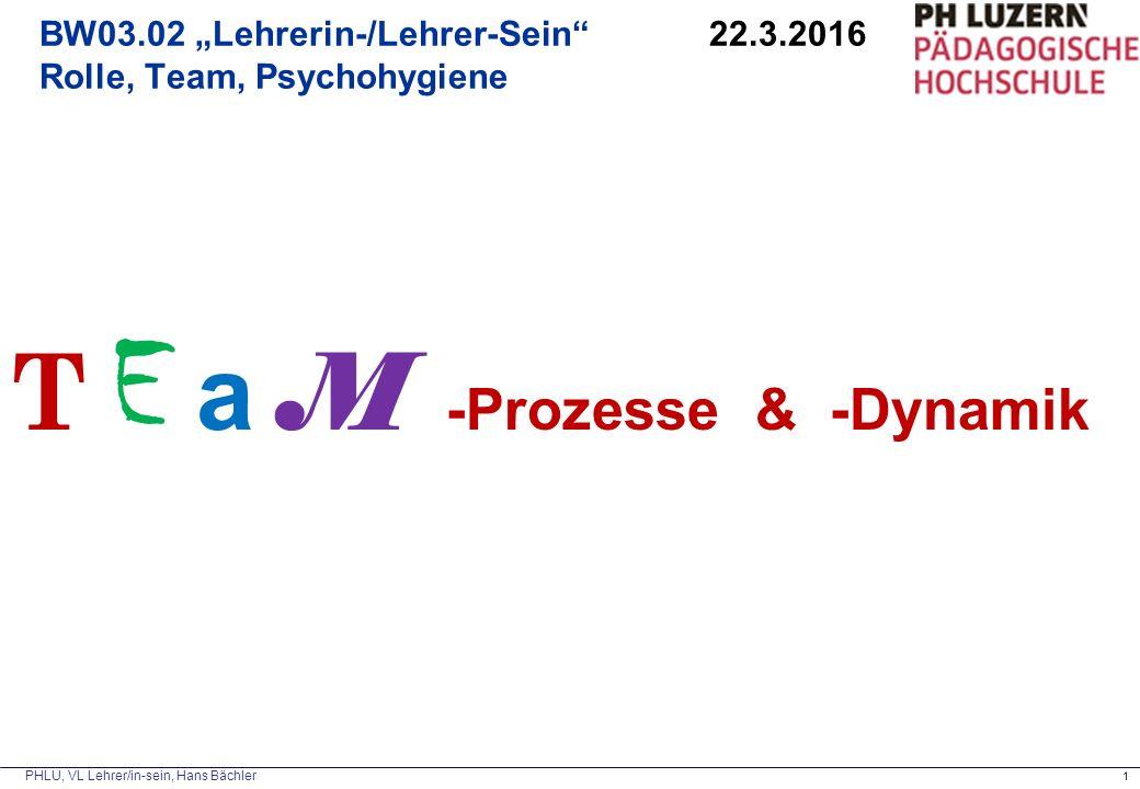 """BW03.02 """"Lehrerin-/Lehrer-Sein 22.3.2016 Rolle, Team, Psychohygiene"""