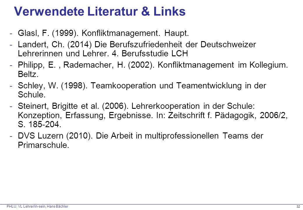 Verwendete Literatur & Links