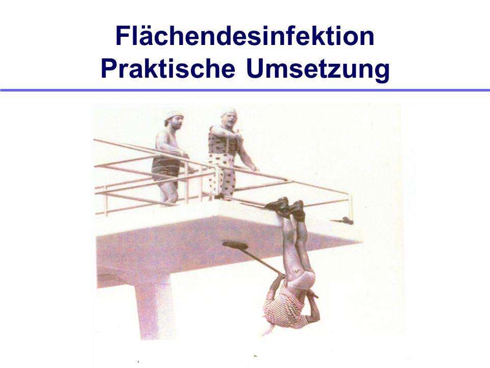 Flächendesinfektion Praktische Umsetzung