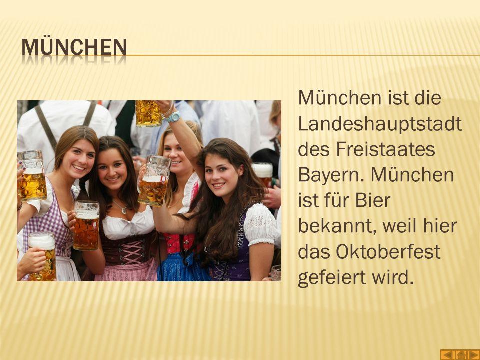 München München ist die Landeshauptstadt des Freistaates Bayern.