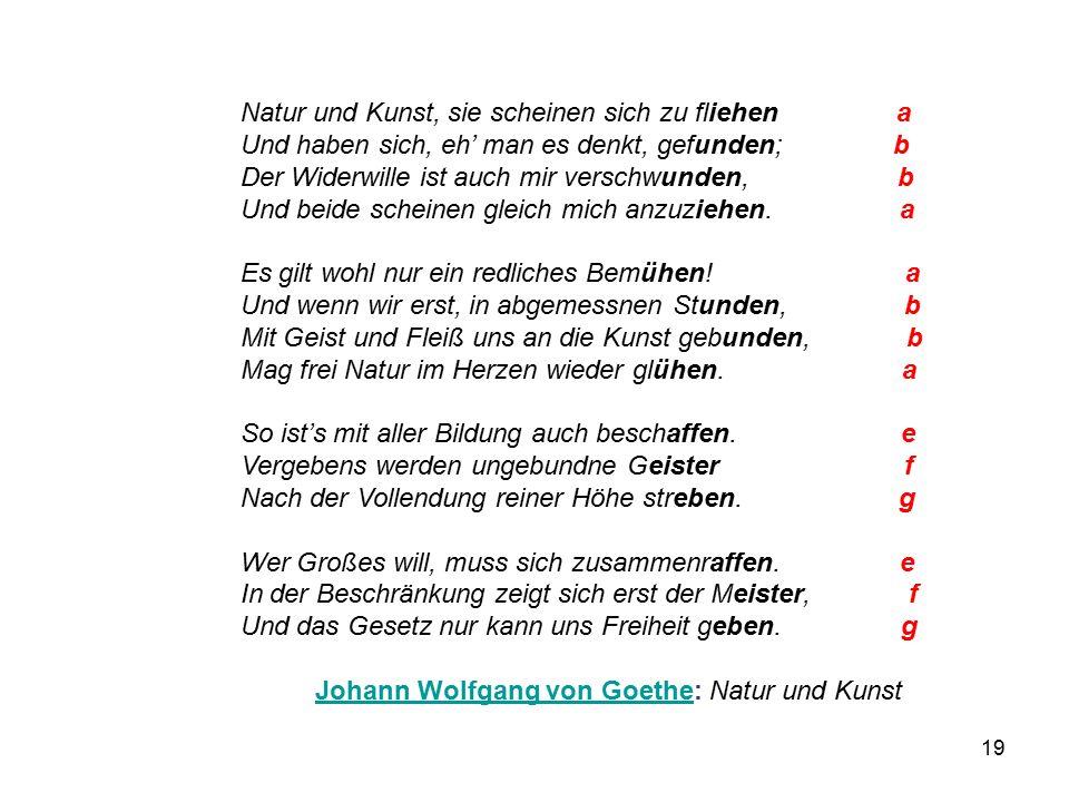 Johann Wolfgang von Goethe: Natur und Kunst