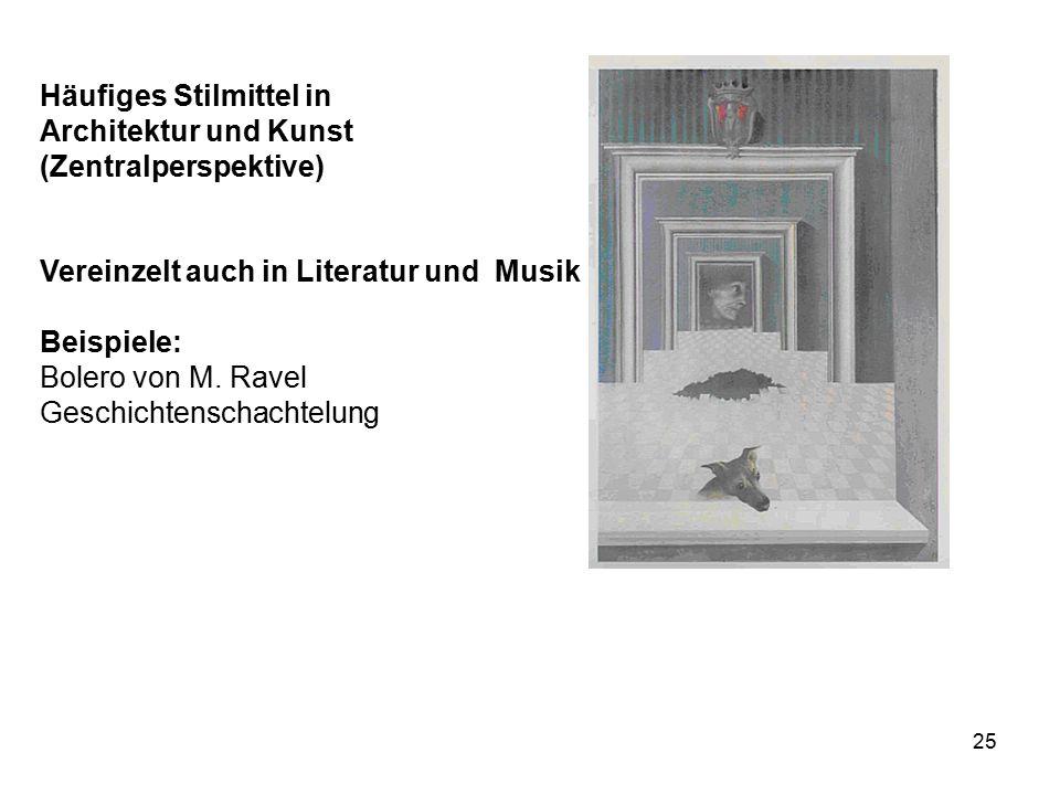 Häufiges Stilmittel in Architektur und Kunst (Zentralperspektive)