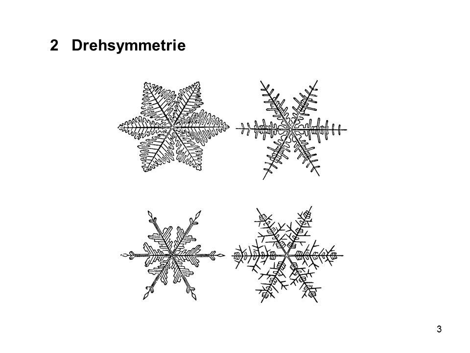 2 Drehsymmetrie Schneeflocken, alle irgendwie gleich und alle verschieden