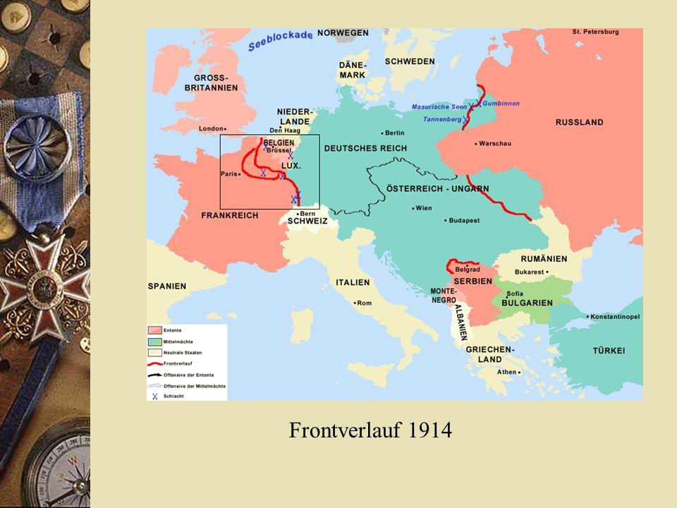 Frontverlauf 1914