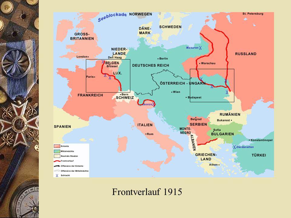 Frontverlauf 1915