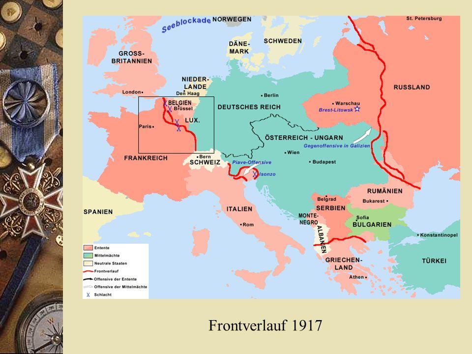 Frontverlauf 1917