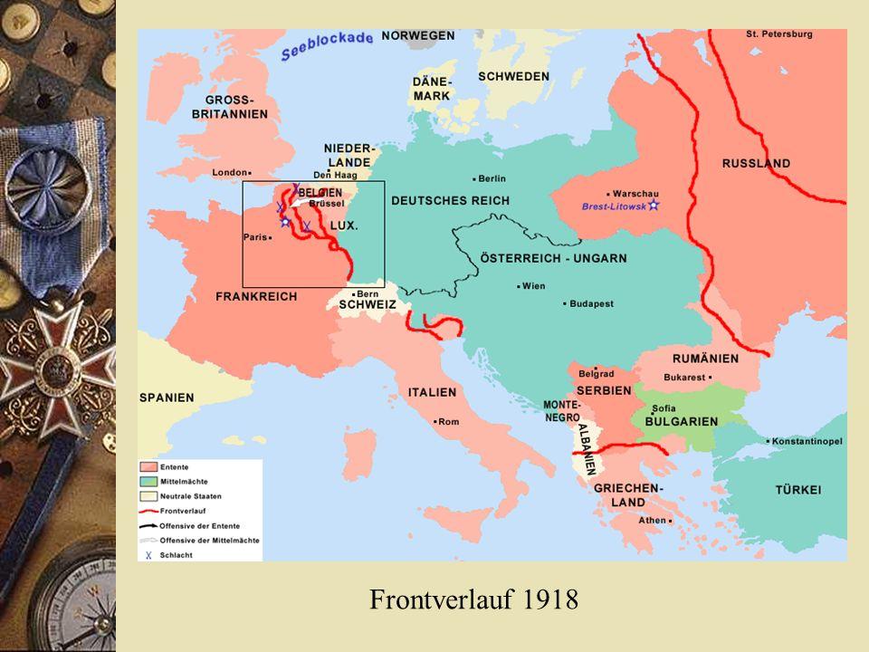 Frontverlauf 1918