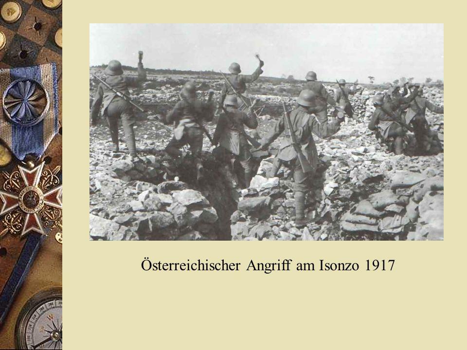 Österreichischer Angriff am Isonzo 1917